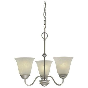 Volume Lighting V2263 Hammond 3 Light 1 Tier Chandelier