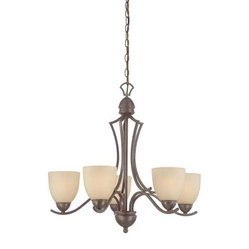 Thomas Lighting Triton 5-Light Sable Bronze Transitional Chandelier   SL808222