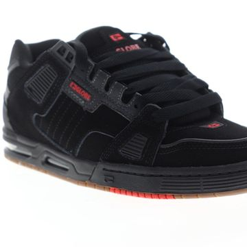 Globe Sabre Mens Black Nubuck Lace Up Athletic Skate Shoes