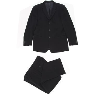 Emporio Armani Black Wool Suits