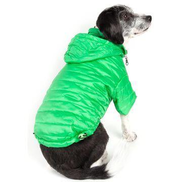 Pet Life Green Lightweight Adjustable Sporty Avalanche Pet Coat, X-Small