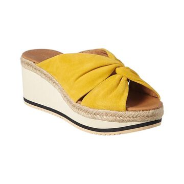 Andre Assous Prune Suede Wedge Sandal