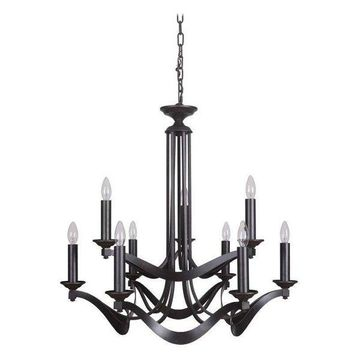Jeremiah Lighting 39029-ESP Sydney Chandelier, Espresso