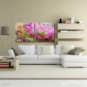 Ready2HangArt 'Painted Petals LVII' 2-Piece Canvas Art Set