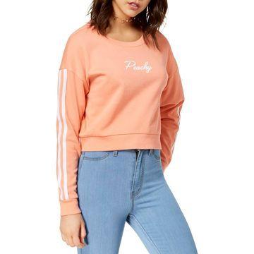 No Comment Womens Juniors Cropped Varsity Sweatshirt