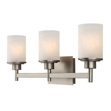 Canarm Lyndi 3-Light Nickel Modern/Contemporary Vanity Light | IVL408A03BN