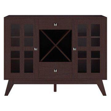 Furniture of America Eulia Wine Rack Buffet in Espresso