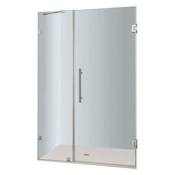 Aston Nautis Completely Frameless Hinged Shower Door, Chrome, 36