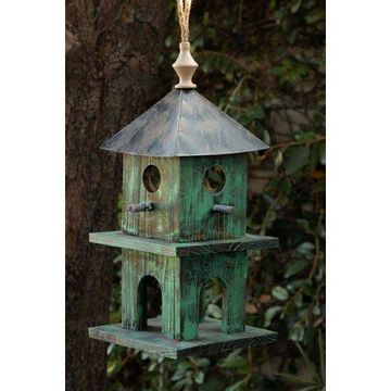 Alpine Hanging Modern Green Artful House, 18 Inch Tall