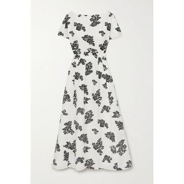 Erdem - Fraser Fil Coupe Twill Midi Dress - White