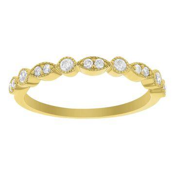 14K Yellow Gold 1/5ct TDW Diamond Art Deco Anniversary Band by Beverly Hills Charm (7)