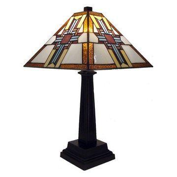 Warehouse of Tiffany Cross Tiffany Style Table Lamp
