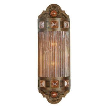 Fine Art Lamps Scheherazade Amber Glass Sconce