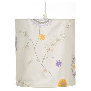 Fiona Hanging Drum Shade - Floral (14Wx16