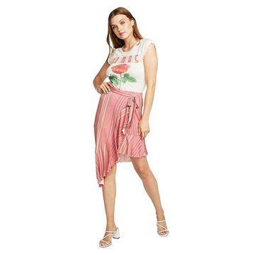 Chaser Cool Jersey Flamenco Skirt (Pink Stripe) Women's Skirt