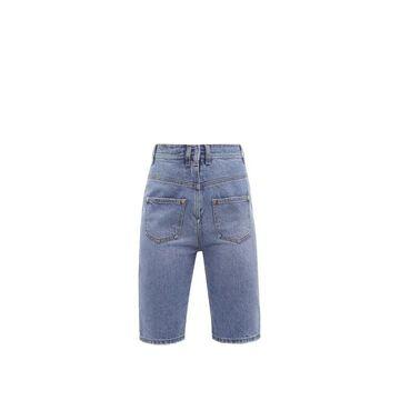 Balmain - Reversed Slim-leg Denim Shorts - Womens - Denim
