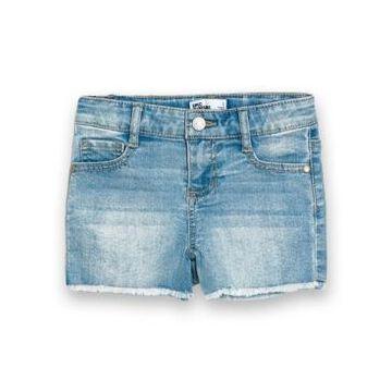Little Girls Fray Hem Denim Shorts
