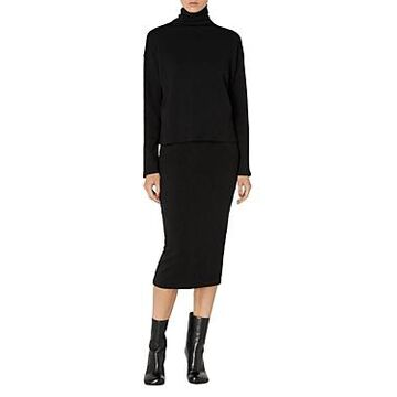 Enza Costa Cotton Turtleneck Sweater