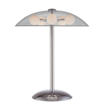 Lite Source Triska 5-light Table Lamp (Chrome with Clear shade)