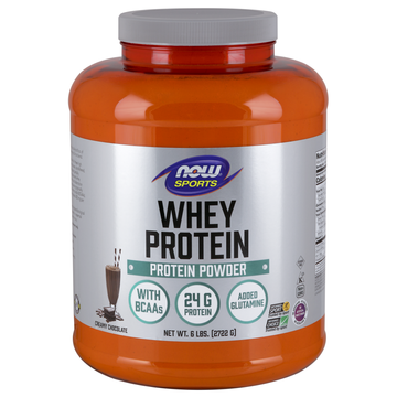 Whey Protein-Chocolate Now Foods 6 lbs Powder