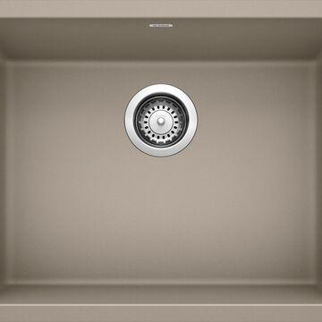 BLANCO Precis Undermount 21.46-in x 17.75-in Truffle (Brown) Single Bowl Kitchen Sink   522417