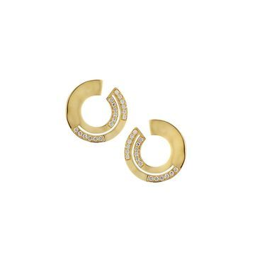 18K Senso Diamond Pave Small Earrings