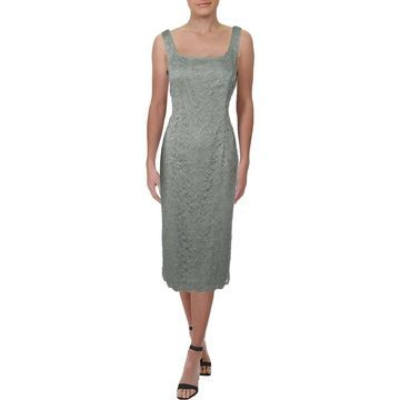 Alex Evenings Womens Cocktail Dress Lace Midi