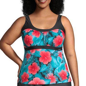 Zeroxposur Floral Tankini Swimsuit Top-Plus