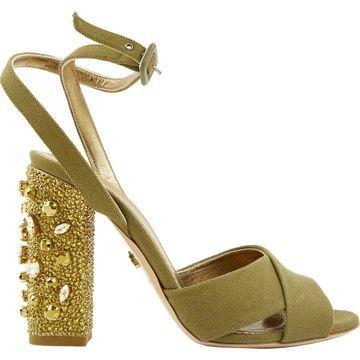 Le Silla Khaki Cloth Heels