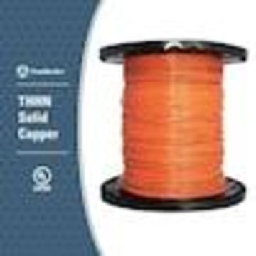 Southwire 2500-ft 14-AWG Solid Orange Copper THHN Wire (By-the-Roll)
