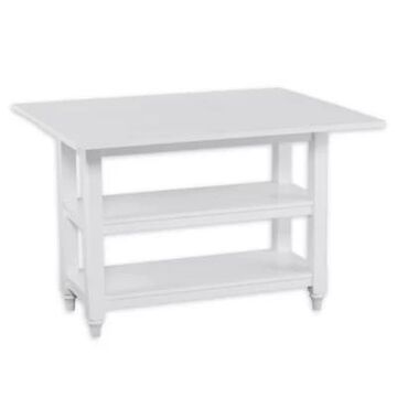 Southern Enterprises Alverton Console to Dining Table in White
