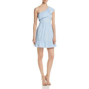 Vero Moda Womens Vmisa One Shoulder A-Line Mini Dress