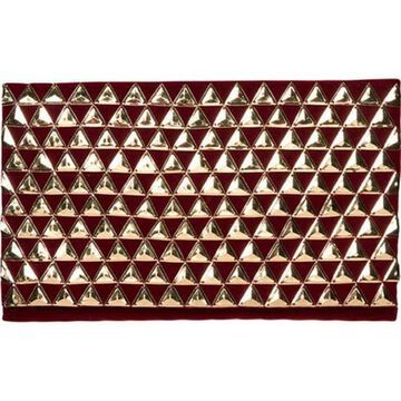 San Diego Hat Company Women's Gold Pyramids on Red Velvet Clutch BSB3550 Red - US Women's One Size (Size None)