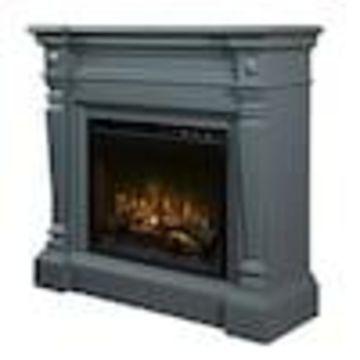 Dimplex 49.63-in W Wedgewood Grey Fan-Forced Electric Fireplace