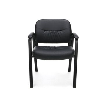 Bonded Leather Executive Side Chair Black - OFM