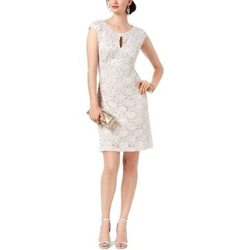 Connected Apparel Womens Sheath Dress Lace Short