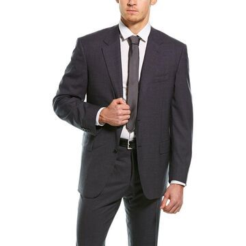 Canali 2Pc Wool Suit With Flat Front Pant