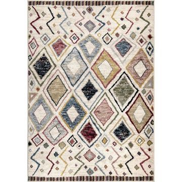 Orian Rugs West Village Settat 8 x 11 Soft White Indoor Geometric Southwestern Area Rug in Off-White