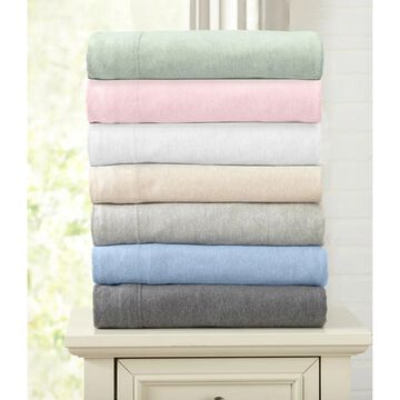 Great Bay Home Extra Soft Heather Jersey Knit Bed Sheet Set (King - Pink)