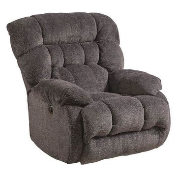 Power Lay Flat Recliner in Cobblestone