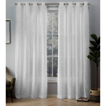 Exclusive Home Curtains 2 Pack Eyelash Grommet Top Curtain Panels