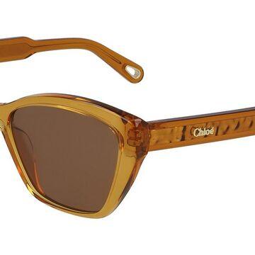 Chloe CE 760S 204 Womens Sunglasses Brown Size 54