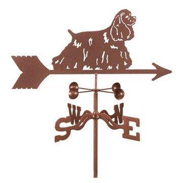 EZ Vane Cocker Spaniel Dog Weathervane With Deck Mount