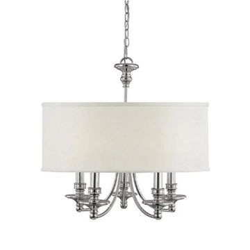 Capital Lighting Midtown Collection 5-light Polished Nickel Chandelier