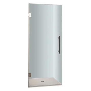 Aston Cascadia Frameless Hinged Shower Door, Chrome, 36