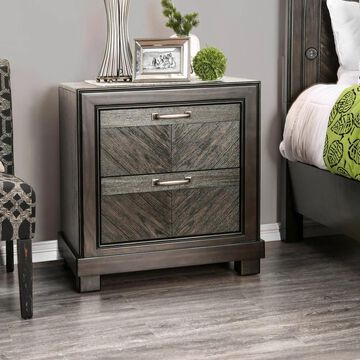 Furniture of America Moso Contemporary Espresso Wood Nightstand