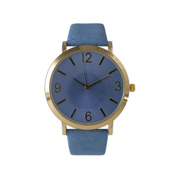 Olivia Pratt Womens Blue Leather Strap Watch-26268bblue