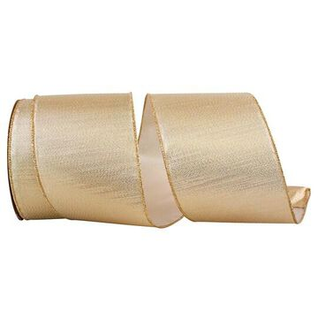 """JAM Paper 25yd. Gold Lame Commercial Heavy Wired Ribbon   4"""" x 25yd   Michaels"""