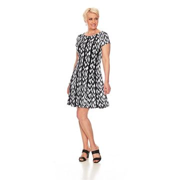 Womens Connected Apparel Short Sleeve A-Line Dress