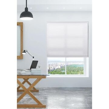 """Arlo Blinds Pure White Light Filtering Cordless Cellular Shades (58""""W x 72""""H)"""